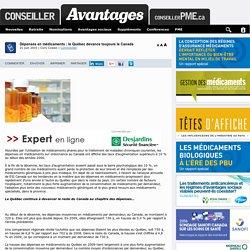 Dépenses en médicaments : le Québec devance toujours le Canada