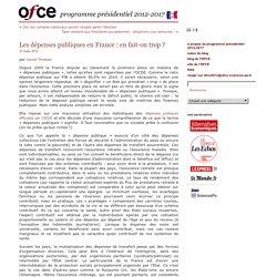 Timbeau - Les dépenses publiques en France : en fait-on trop ?