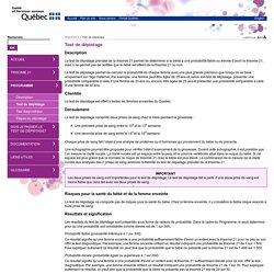 Test de dépistage - Dépistage prénatal de la trisomie 21
