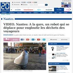 VIDEO. Nantes: A la gare, un robot qui se déplace pour engloutir les déchets des voyageurs