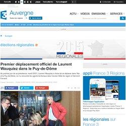 ELUS (05.01.16) - Premier déplacement officiel de Laurent Wauquiez dans le Puy-de-Dôme - France 3 Auvergne