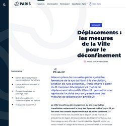 Déplacements: les mesures de la Ville pour le - Ville de Paris