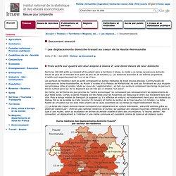 Territoire - Les déplacements domicile-travail au coeur de la Haute-Normandie : Une majorité de flux en secteur urbain, avec une orientation nord-sud dominante