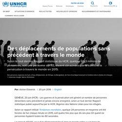 HCR- Des déplacements de populations sans précédent à travers le monde