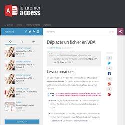 Déplacer un fichier en VBA - Le Grenier Access