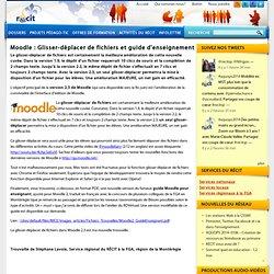 Moodle : Glisser-déplacer de fichiers et guide d'enseignement