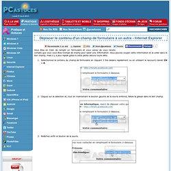 Déplacer le contenu d'un champ de formulaire à un autre - Internet Explorer
