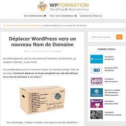 Déplacer WordPress sur un nouveau Nom de Domaine - Changer d'URL