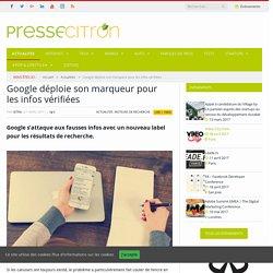 Google déploie son marqueur pour les infos vérifiées