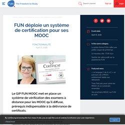 FUN - FUN déploie un système de certification pour ses MOOC