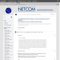 Le déploiement des réseaux communautaires sans fil (MESH)