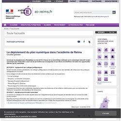 Le déploiement du plan numérique dans l'académie de Reims