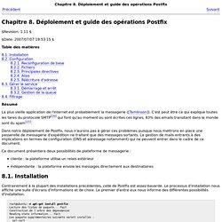 Chapitre8.Déploiement et guide des opérations Postfix