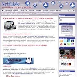 Guide technique de déploiement d'un parc d'iPad en contexte pédagogique