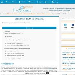 Déploiement d'IE11 sur Windows 7