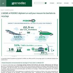 L'ADEME et FEDEREC déploient un outil pour mesurer les bienfaits du recyclage