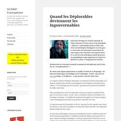 Quand les Déplorables deviennent les Ingouvernables – Le Saker Francophone
