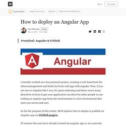 How to deploy an Angular App - Coinmonks - Medium