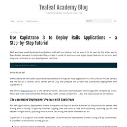Deploy Rails Applications with Capistrano 3