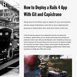 How to Deploy a Rails 4 App With Git and Capistrano // Rob McLarty