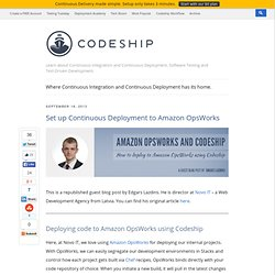 How to deploy to Amazon OpsWorks using Codeship