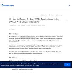 How to Deploy Python WSGI Applications Using uWSGI Web Server with Nginx