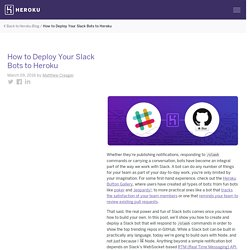 How to Deploy Your Slack Bots to Heroku