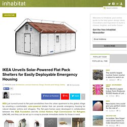 IKEA Unveils Solar-Powered Flat Pack Shelters for Easily Deployable Emergency Housing
