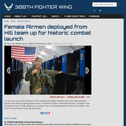 Female Airmen deployed from Hill team up for historic combat launch > 388th Fighter Wing > Article Display