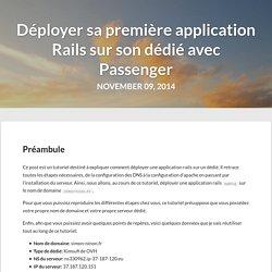 Déployer Sa Première Application Rails Sur Son Dédié Avec Passenger - Simon Ninon