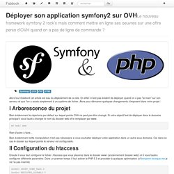 Déployer son application symfony2 sur OVH