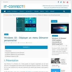 Windows 10 : Déployer un menu Démarrer personnalisé