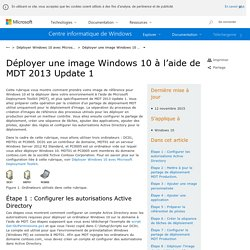 Déployer une image Windows 10 à l'aide de MDT 2013 Update 1 (Windows)