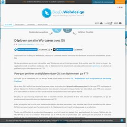 Déployer son site Wordpress avec Git - Wordpress