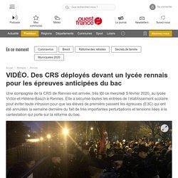 VIDÉO. Des CRS déployés devant un lycée rennais pour les épreuves anticipées du bac