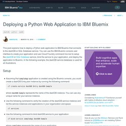 Deploying a Python Web Application to IBM Bluemix - Bluemix Blog