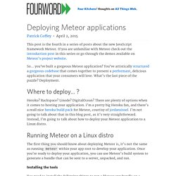 Deploying Meteor applications