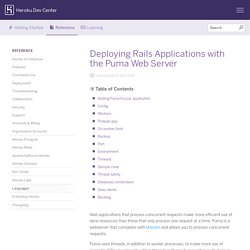 Deploying Rails Applications with the Puma Web Server
