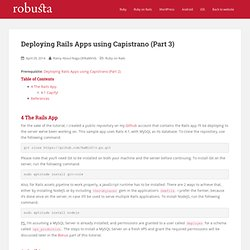 Deploying Rails Apps using Capistrano (Part 3)