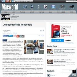 Deploying iPads in schools