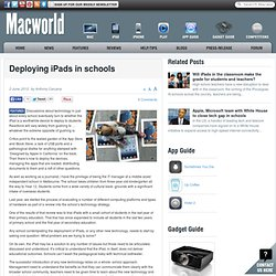 Deploying iPads in schools