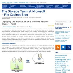Deploying DFS Replication on a Windows Failover Cluster – Part I - The Storage Team at Microsoft - File Cabinet Blog