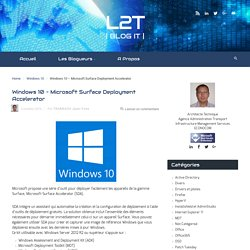 Windows 10 – Microsoft Surface Deployment Accelerator – L2T
