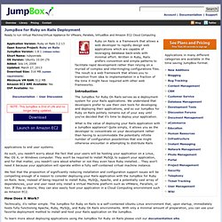 JumpBox Virtual Appliances and Applications for Cloud Computing
