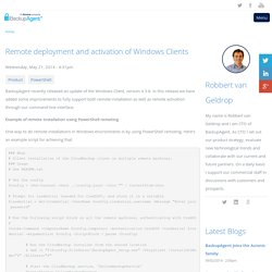 Remote deployment and activation of Windows Clients