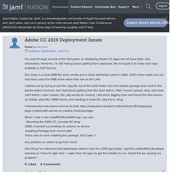 Adobe CC 2019 Deployment Issues