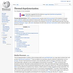 Thermal depolymerization