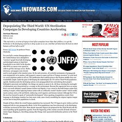 depopulating the third world: UN Sterilization Campaigns In Developing Countries