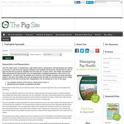 PIGSITE - Depopulation and Repopulation.