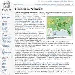 Déportation des Amérindiens